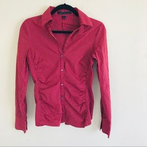Express red buttons blouse size S